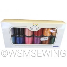 Brother 12 Satin Embroidery Thread Set