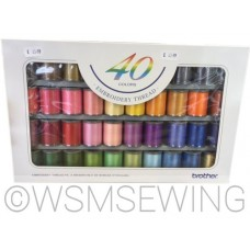 Brother 40 Satin Embroidery Thread Set