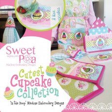 Sweet Pea Embroidery Designs CD - Cutest Cupcake Collection