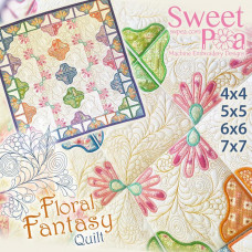 Sweet Pea Embroidery Designs CD - Floral Fantasy Quilt