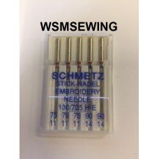 Schmetz Stick Nadel Embroidery Needles 75/11 + 90/14