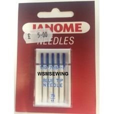 Janome Blue Tipped Needles - 75/11