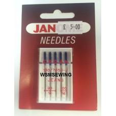 Janome Jean Needles - 90/14 + 100/16