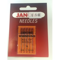Janome Red Tipped Needles Size 14