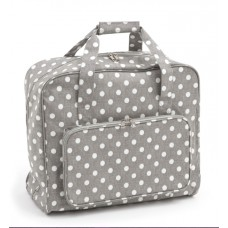 Sewing Bag Grey Polka Dot