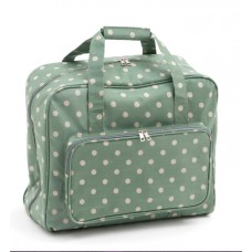 Sewing Bag Green Polka Dot