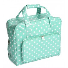 Sewing Bag Teal Polka Dot