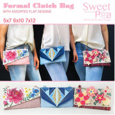 Sweet Pea Embroidery Designs CD - Formal Clutch Bag
