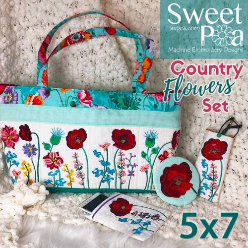 b6df05b7fb4b Sweet Pea Embroidery Designs CD - Country Flowers
